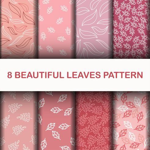 Set 8 Beau motif de feuilles