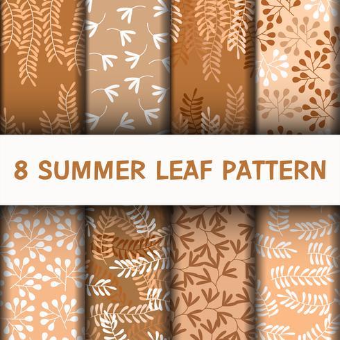 Set 8 schöne Blätter Muster