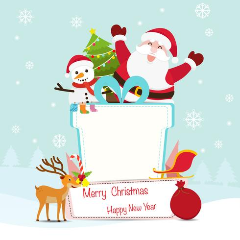 Kerstmis en Nieuwjaar decoratie achtergrond