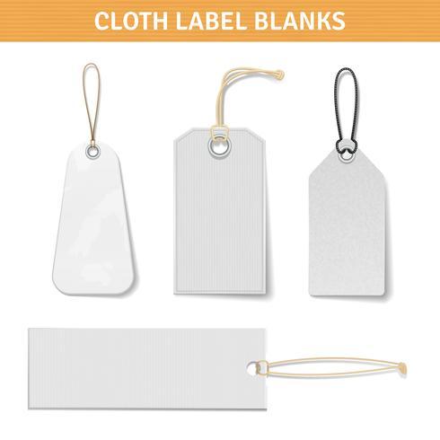 Etiquetas de la ropa conjunto de etiquetas