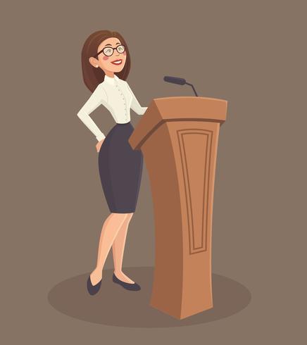 Spreker vrouw illustratie