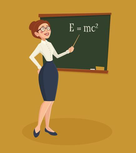 Profesora mujer ilustración vector
