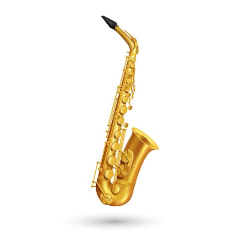 Golden Saxophone Illustration