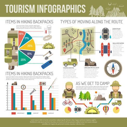 Turism Infographics Set