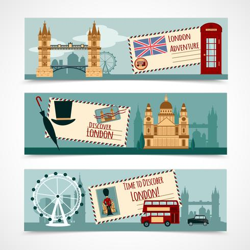 London Touristic Banner Set