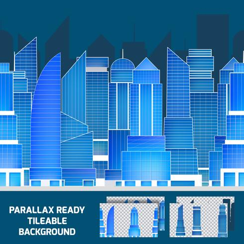 Modern natt stadslandskap tilleable parallax bakgrund