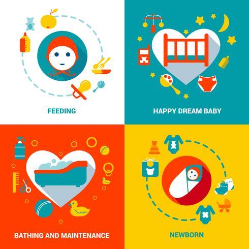 Baby Care Design Concept vector