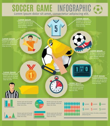 Conjunto de infográfico de futebol