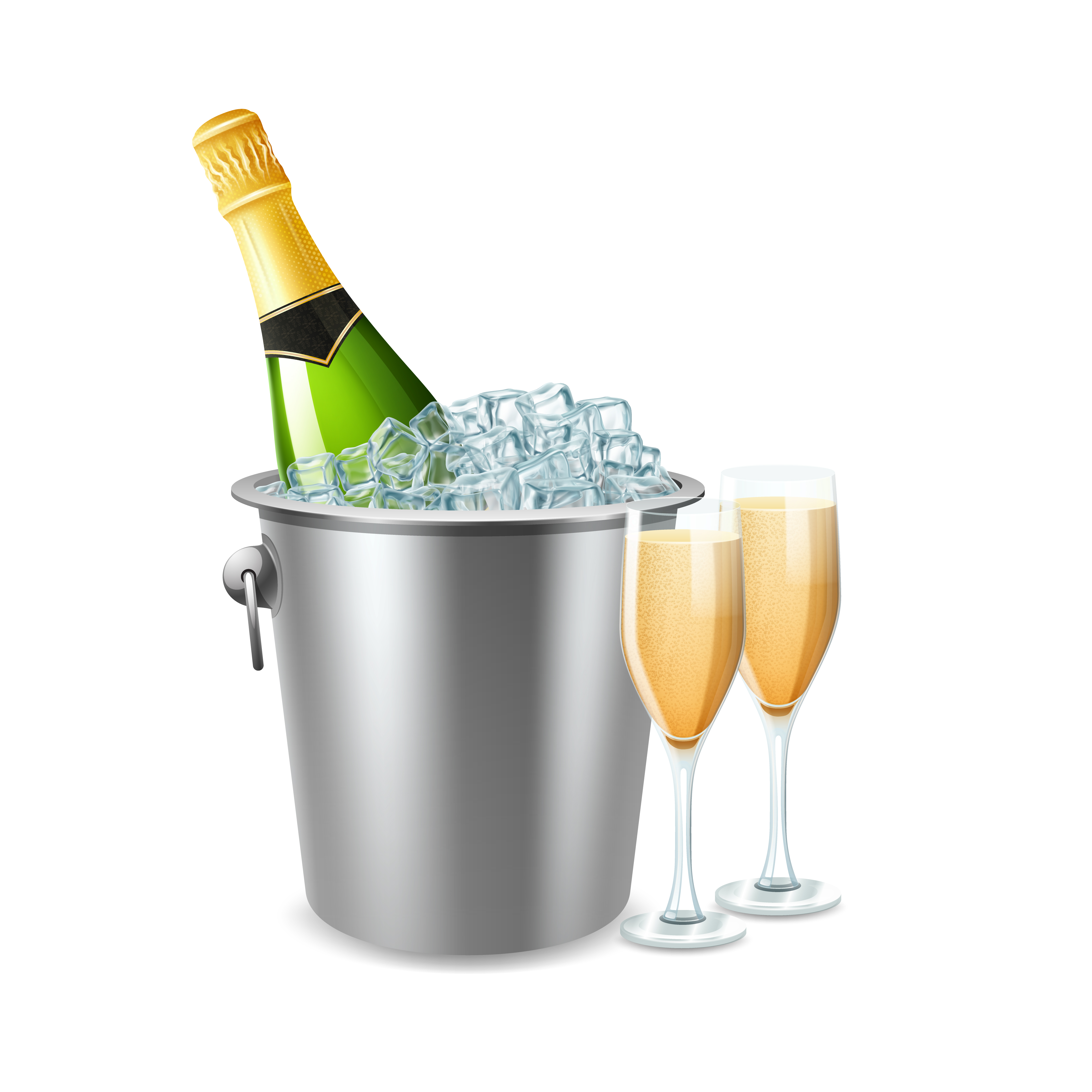 Champagne In Bucket Illustration - Download Free Vectors ...