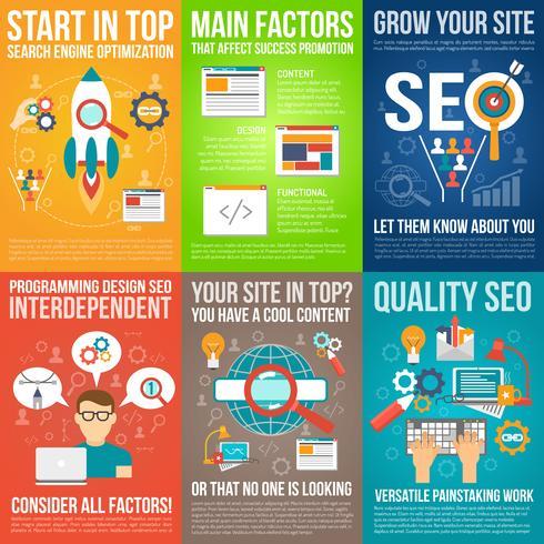 Web Poster Set vector