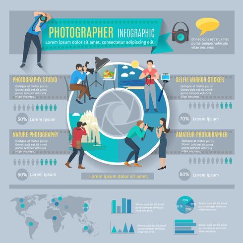 Fotógrafo Infographics Set