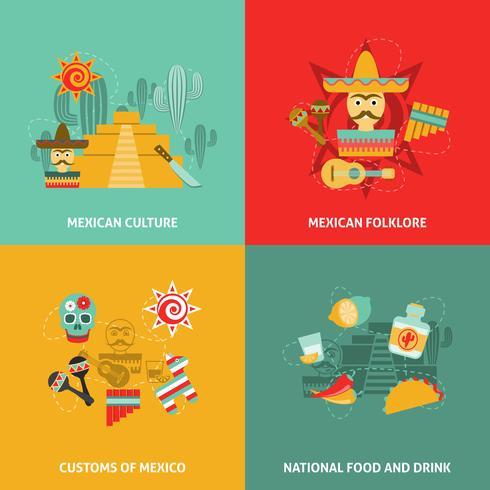 Set di icone messicane