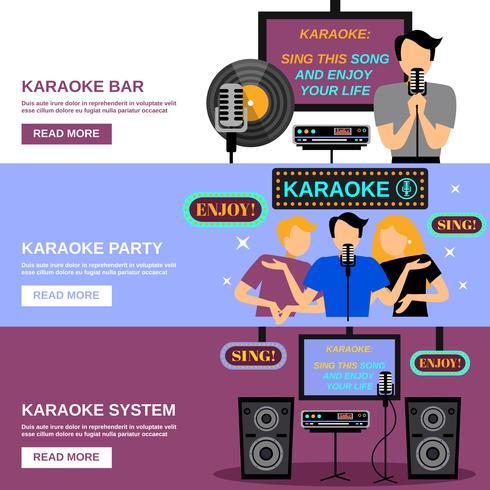 conjunto de banners de karaoke