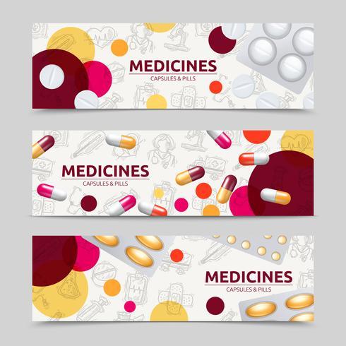 Ensemble de bannière de pilules