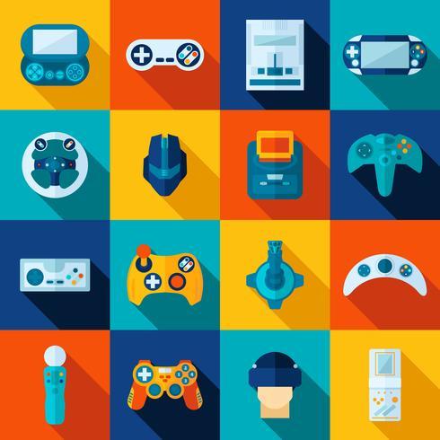Videospel Ikoner Set