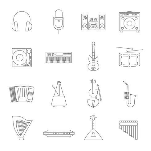 Outline Melody Icon Set