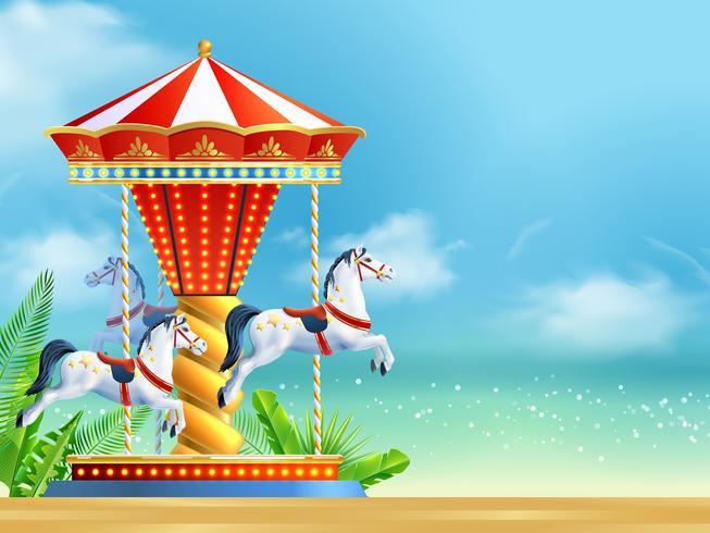 Fond réaliste de carrousel