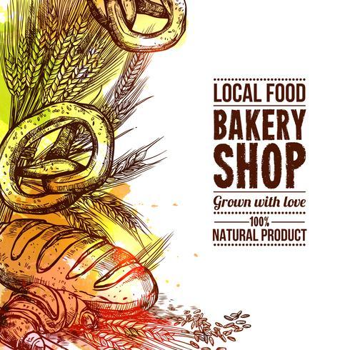 Bäckerei Hand gezeichnete Illustration