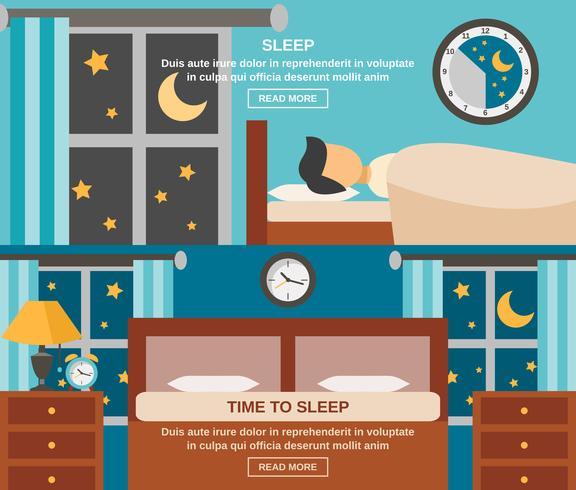 Sleep Time Banner vector
