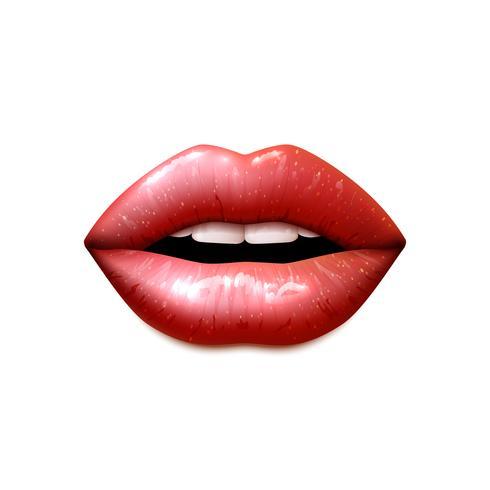 Realistische weibliche Lippen