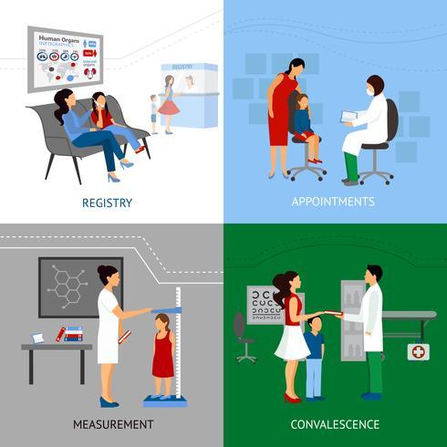 Concepto de diseño pediatra