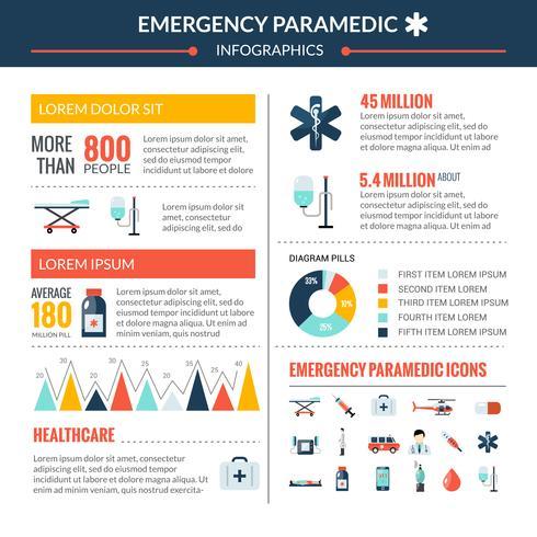 Notfall Sanitäter Infographik Set