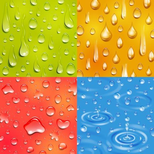 Water Drop Square Banner Set