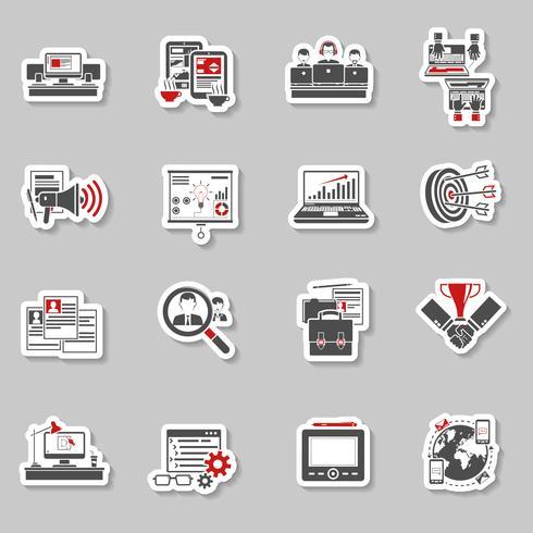 Collection de stickers concept indépendants