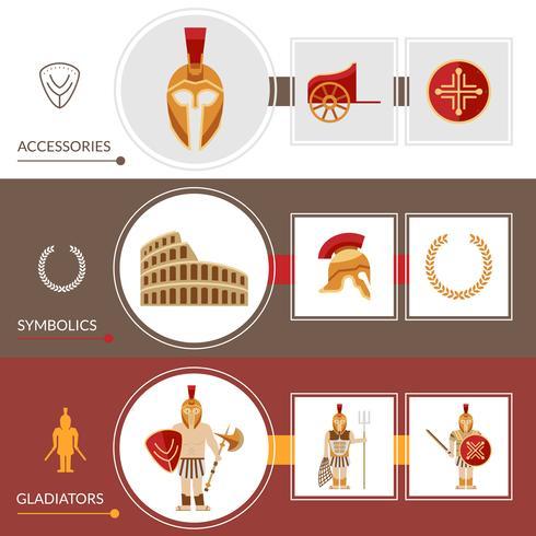 Set de Banners de Gladiador vector