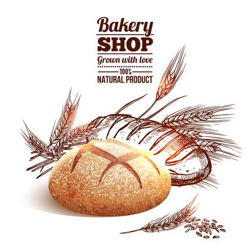 Concepto de boceto de panadería