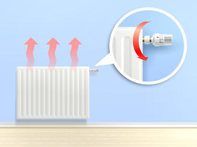 Illustrazione realistica del radiatore vettore