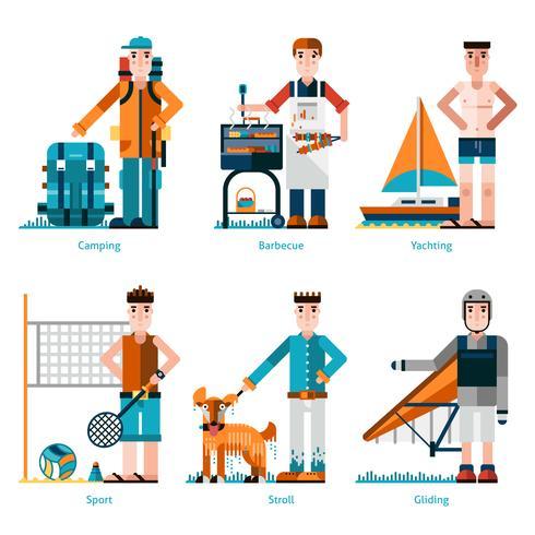 Iconos de descanso de verano