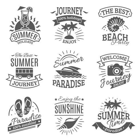 Étiquettes noires vacances d'été