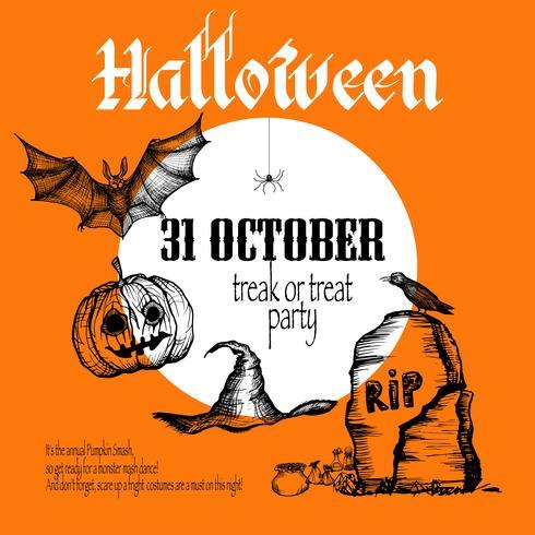 Fond de croquis d'Halloween