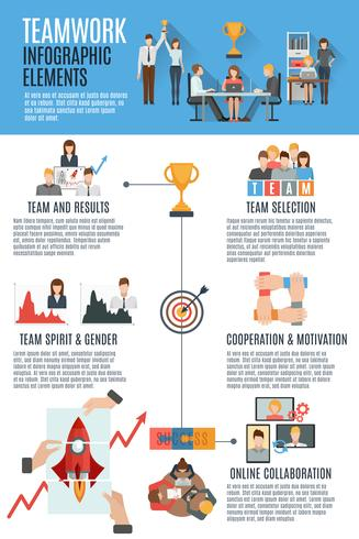 Teamwork management infographic banner
