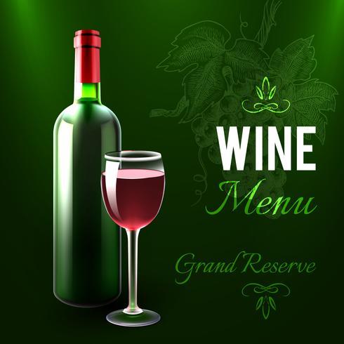 Wijn menusjabloon