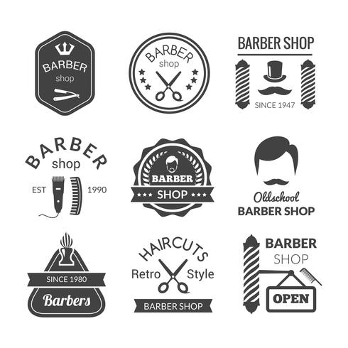 Barber Shop Emblems vector