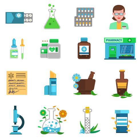 Pharmacie Icons Set
