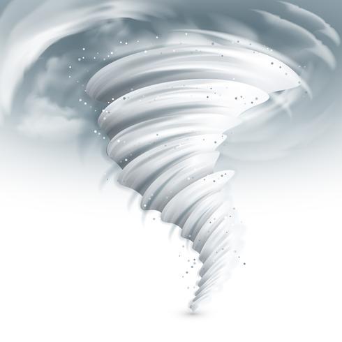 Illustration du ciel de tornade