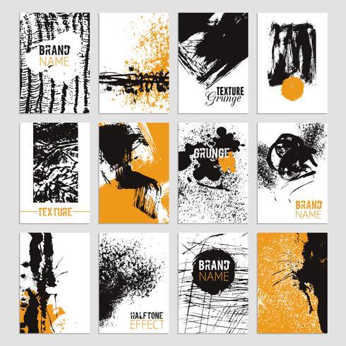 Conjunto de tarjetas de textura Grunge