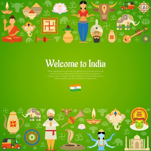 Ilustração de fundo da Índia vetor