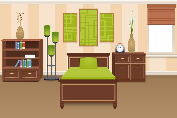 Bedroom Interior Concept vector