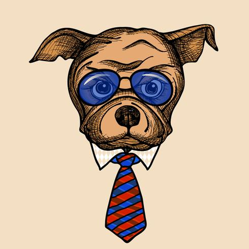 Portrait de Bulldog Fashion
