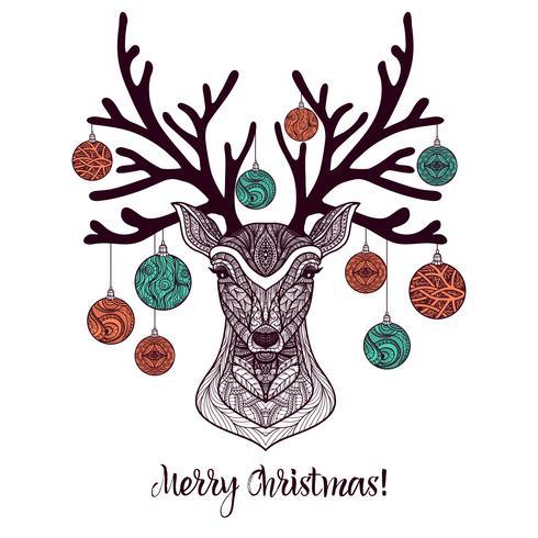 Ciervos de navidad de colores