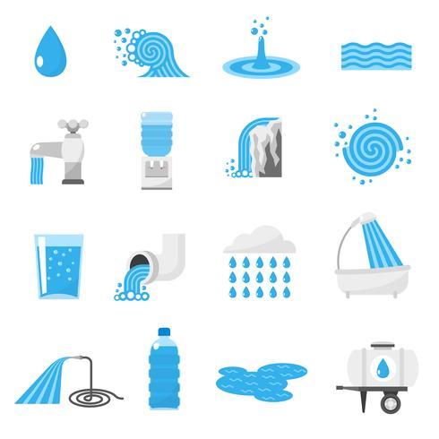 Set di icone di acqua