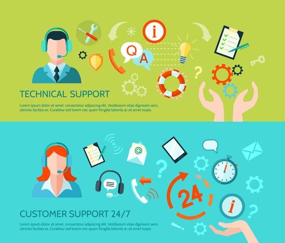 Banner di assistenza tecnica e supporto
