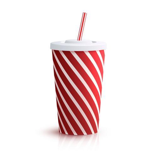 Cola verre rayé vecteur