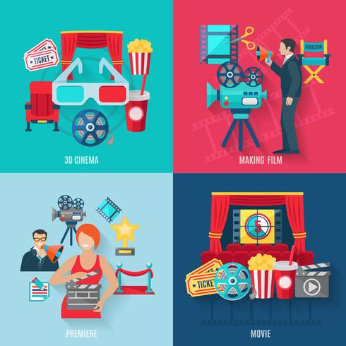 Film machen Icons Set