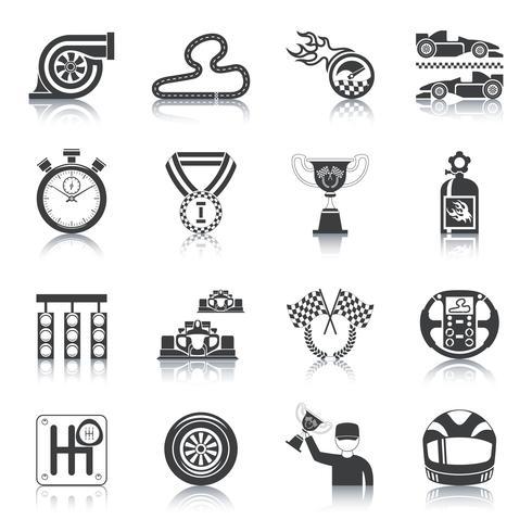 icone da corsa nere