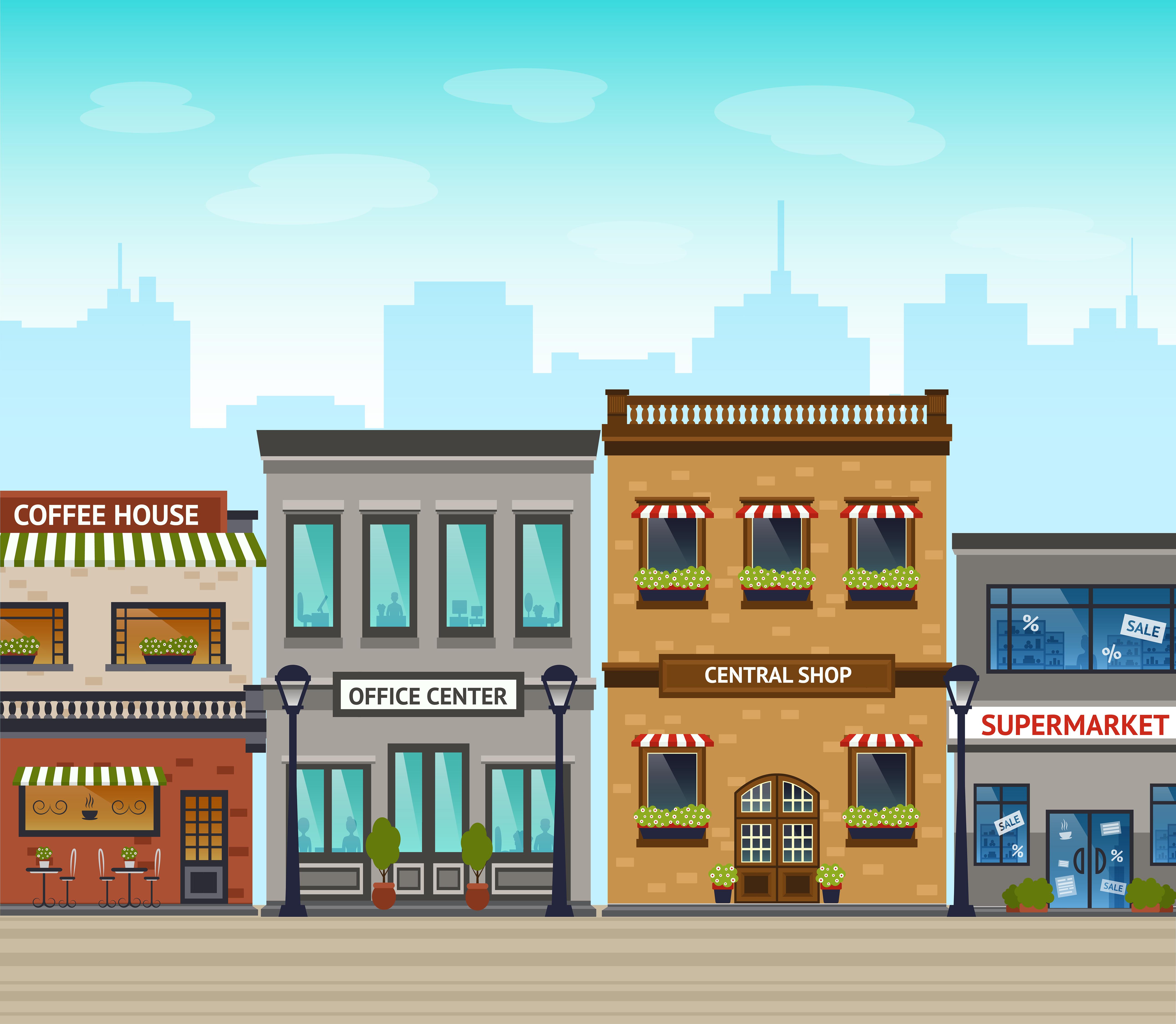 City Background Illustration - Download Free Vectors ...